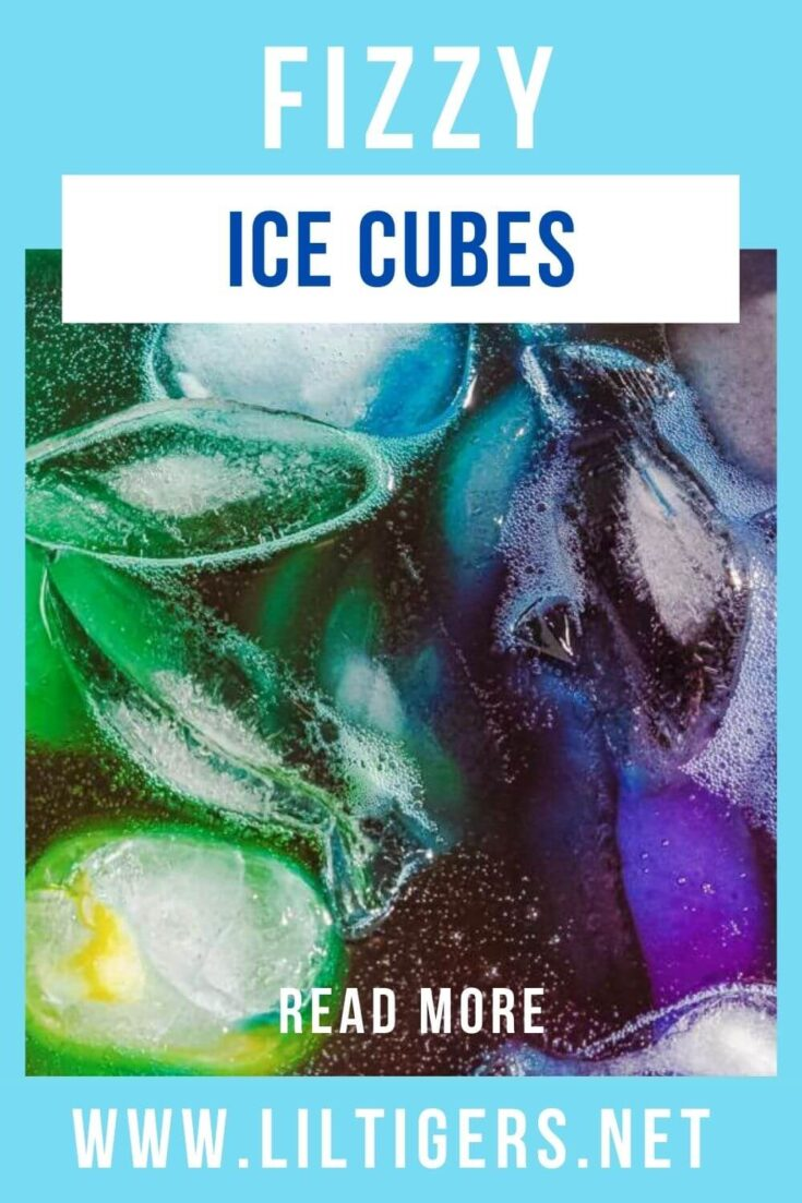 Fizzy ice cube experiment