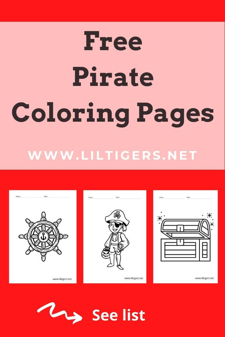 free pirate coloring sheets