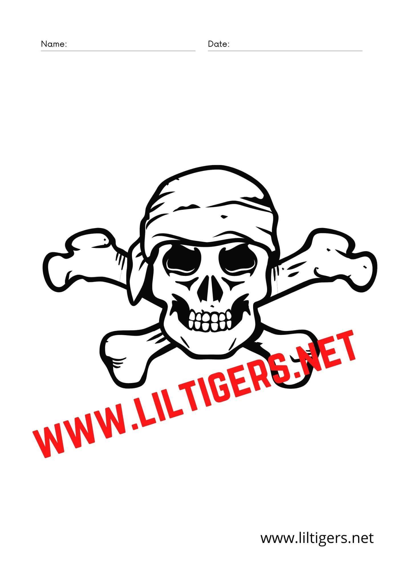 Pirate skull printable