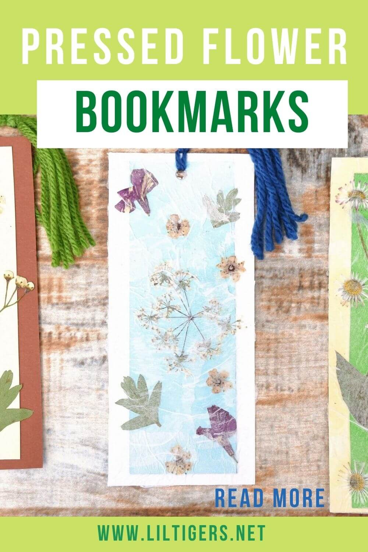 diy pressed flower bookmarks