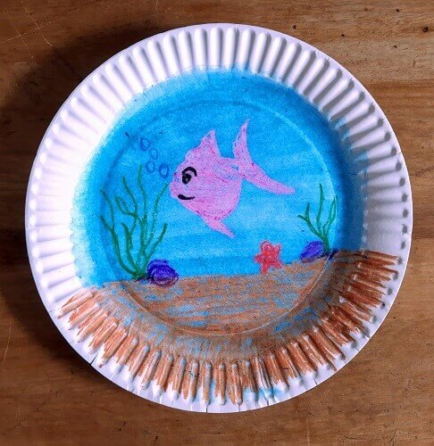 under the ocean paper plate activity