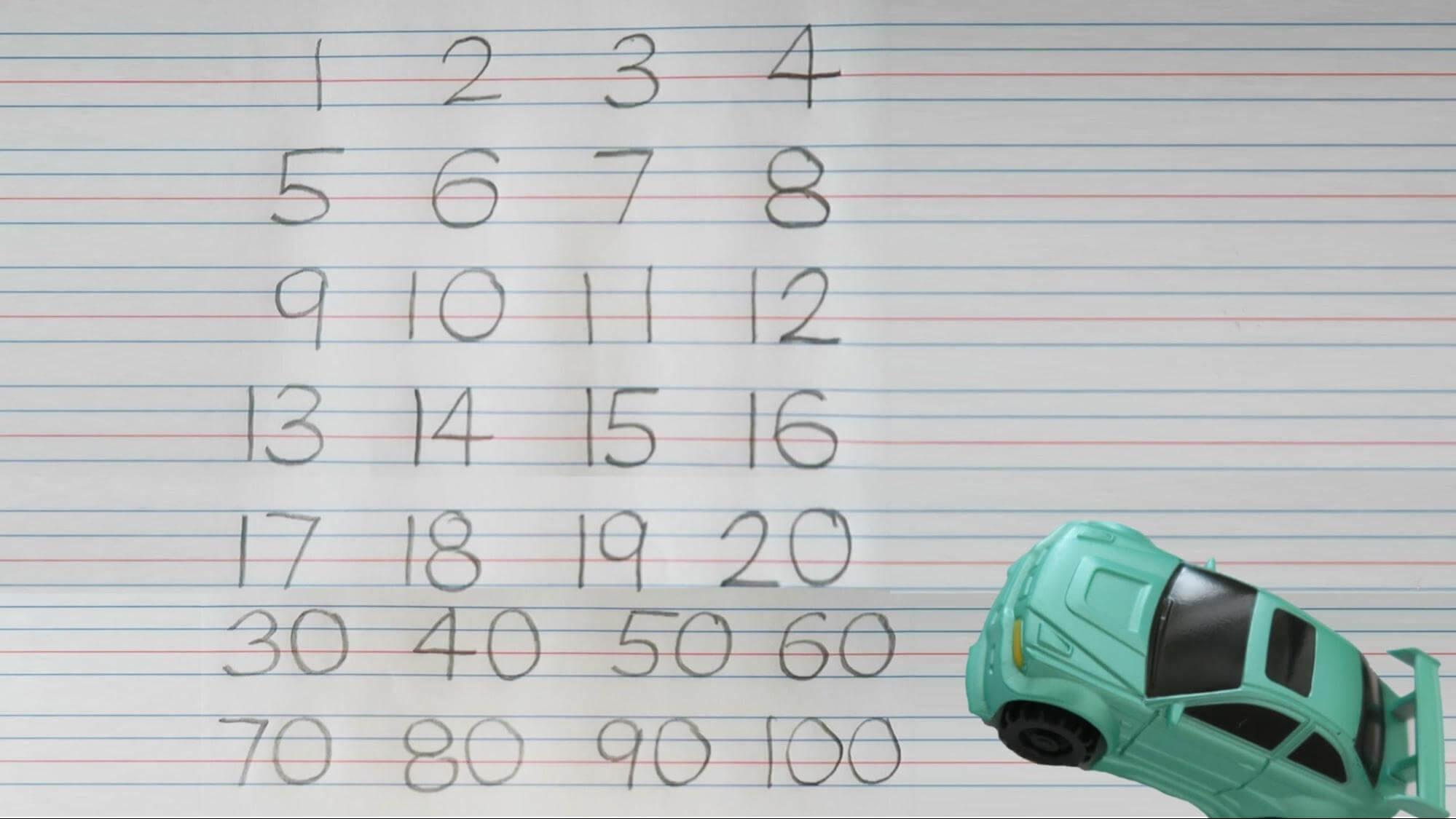 writing number worksheet 1-100