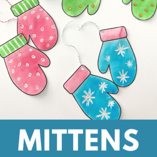 A Simple Winter Craft for Toddlers with Mitten Template and Creative Ideas